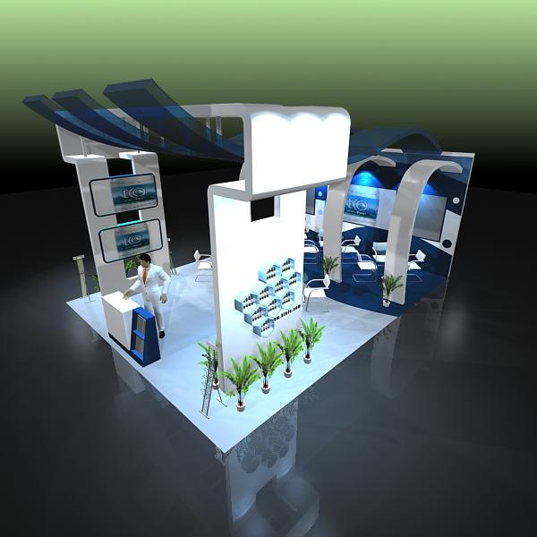 exhibit booth design 020 3d model 3ds max dxf dwg fbx c4d ma mb hrc xsi texture obj 118503