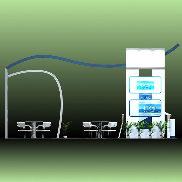 exhibit booth design 020 3d model 3ds max dxf dwg fbx c4d ma mb hrc xsi texture obj 118504