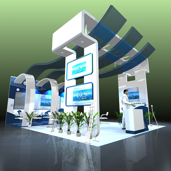 D Modelling Of Exhibition Stands : Exhibit booth design d model buy