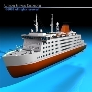 model ferryboat2 3d 3ds dxf c4d obj 88161