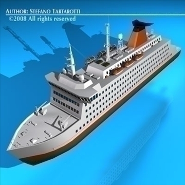 ferryboat2 model 3d 3ds dxf c4d obj 88164
