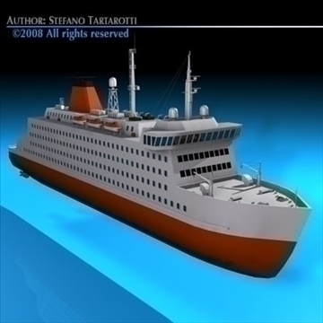 ferryboat2 3d modelis 3ds dxf c4d obj 88168
