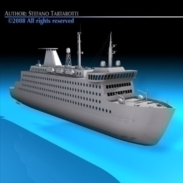 ferryboat2 model 3d 3ds dxf c4d obj 88169