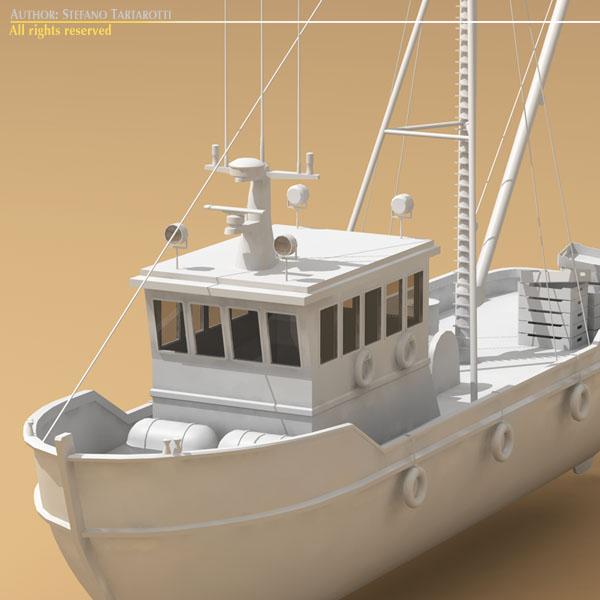 balıqçılıq gəmisi 3d modeli 3ds dxf c4d obj 77741