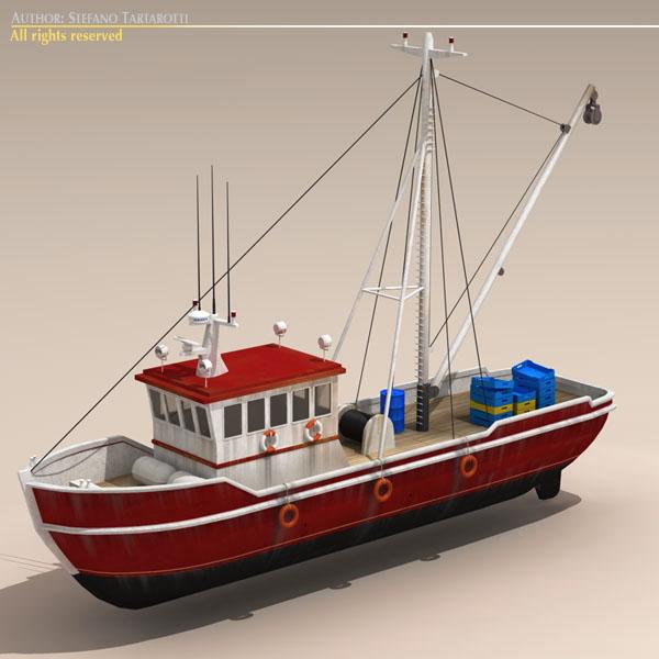 Fishing boat 3d model buy fishing boat 3d model for Model fishing boats