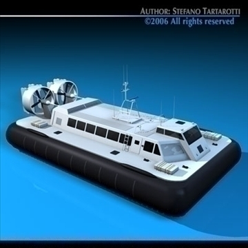 hovercraft 3d model 3ds dxf c4d obj 82923