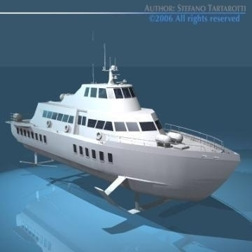 Hydrofoil Boat 3d Model Flatpyramid