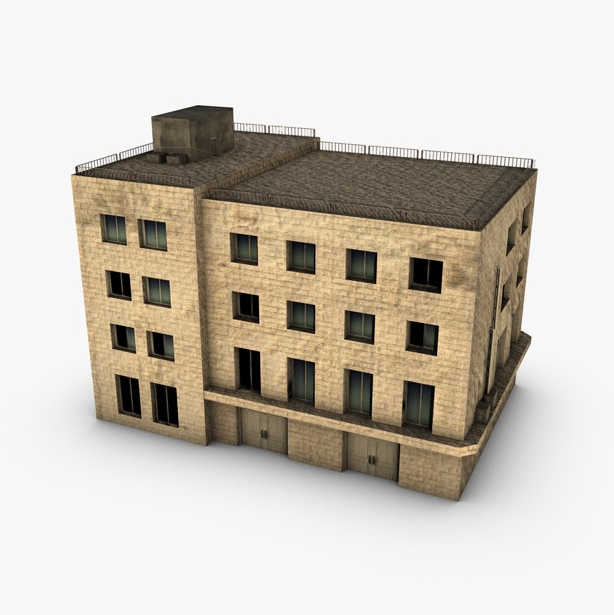 low poly building 3d model 3ds max fbx c4d obj 139965