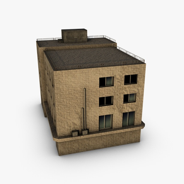 low poly building 3d model 3ds max fbx c4d obj 139966