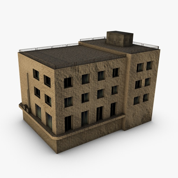 low poly building 3d model 3ds max fbx c4d obj 139967