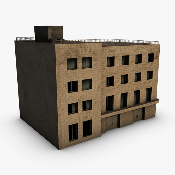 low poly building 3d model 3ds max fbx c4d obj 139968