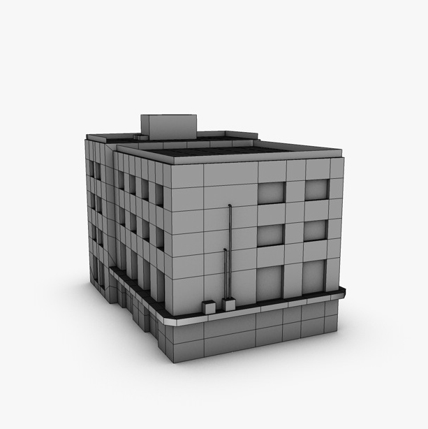 low poly building 3d model 3ds max fbx c4d obj 139970
