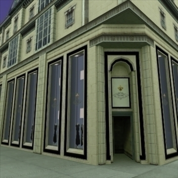 luxury french clothes store 3d model 3ds max fbx lwo ma mb hrc xsi texture obj 99924