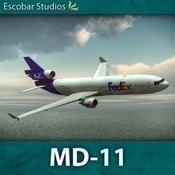 mcdonnell douglas md-11 3d model dxf fbx ma mb obj 91301
