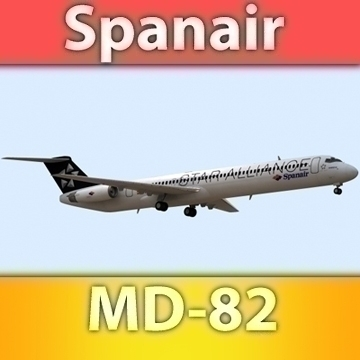 md-82 spanair 3d model max fbx ma mb obj 91311