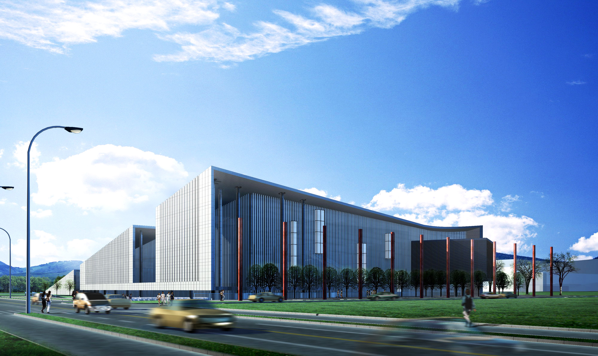 modern 3d building 049 two 3d model max 133537