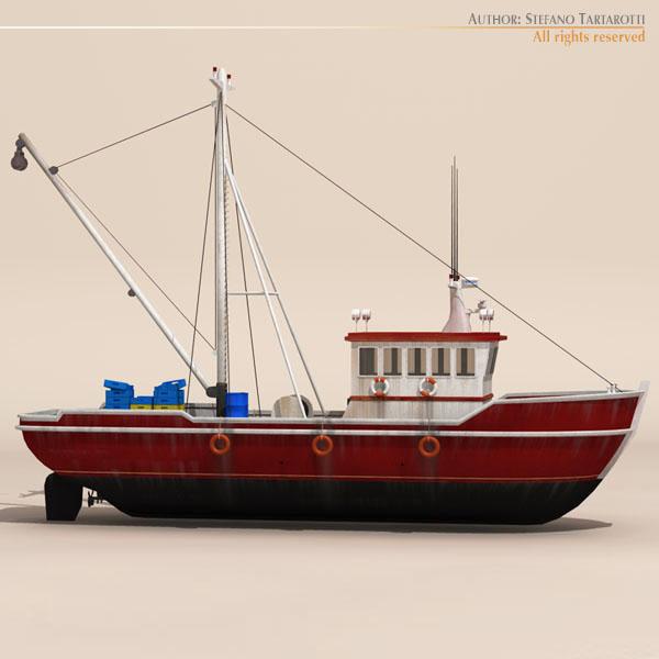 vecā zvejas laiva 3d modelis 3ds dxf c4d obj 116365