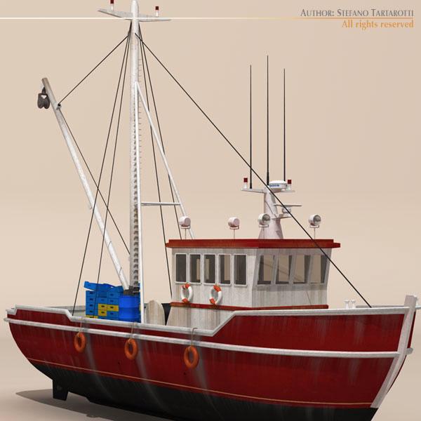 vecā zvejas laiva 3d modelis 3ds dxf c4d obj 116367