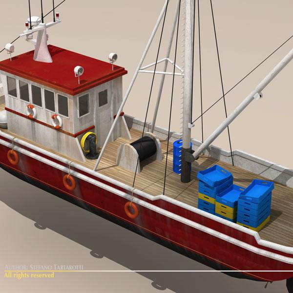 vecā zvejas laiva 3d modelis 3ds dxf c4d obj 116368