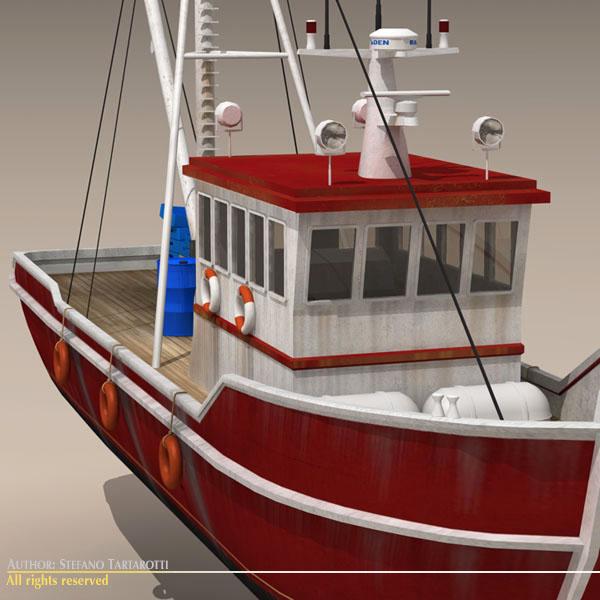 vecā zvejas laiva 3d modelis 3ds dxf c4d obj 116369