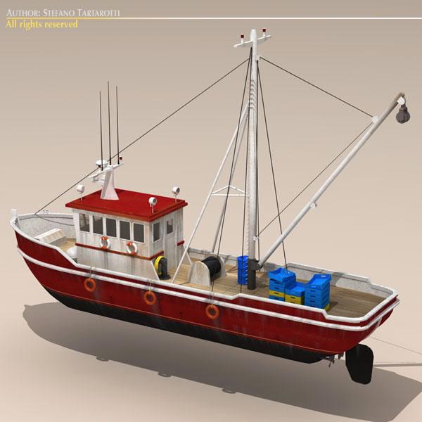 vecā zvejas laiva 3d modelis 3ds dxf c4d obj 116370