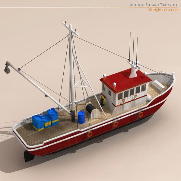 vecā zvejas laiva 3d modelis 3ds dxf c4d obj 116371