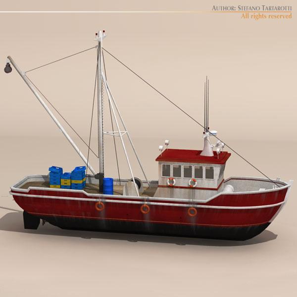 vecā zvejas laiva 3d modelis 3ds dxf c4d obj 116372