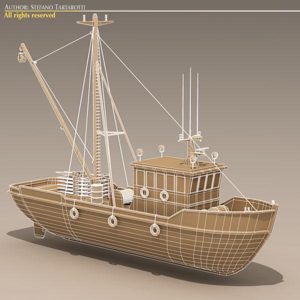 vecā zvejas laiva 3d modelis 3ds dxf c4d obj 116373