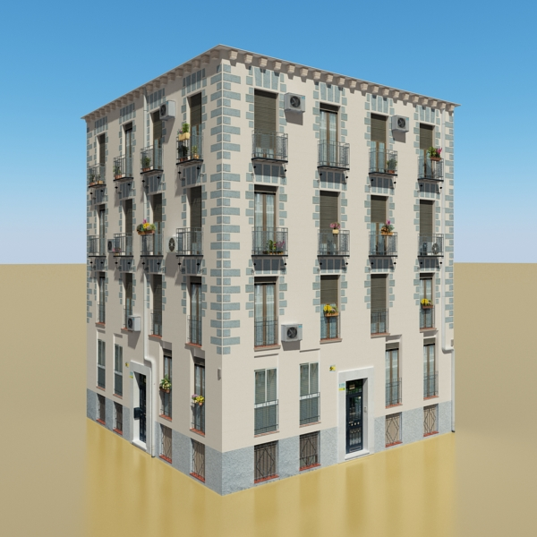 photorealistic low poly building 14 3d model 3ds max obj 149438
