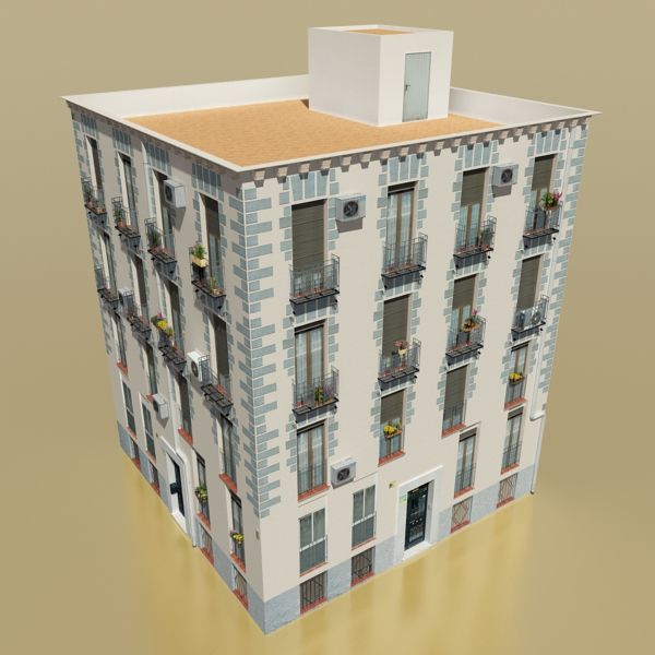 photorealistic low poly building 14 3d model 3ds max obj 149440