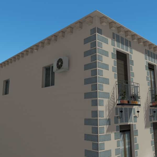photorealistic low poly building 14 3d model 3ds max obj 149443