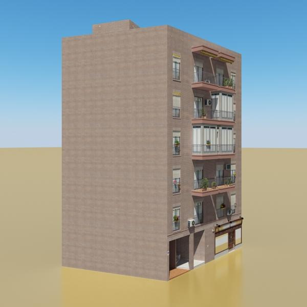 photorealistic low poly building 9 3d model 3ds max obj 148883