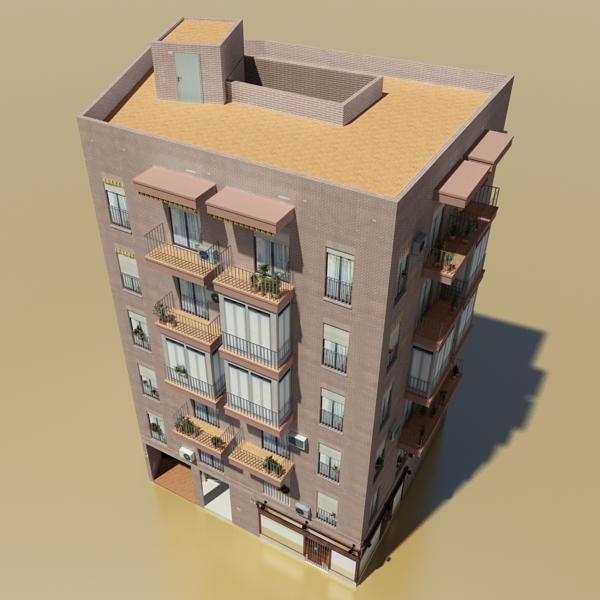 photorealistic low poly building 9 3d model 3ds max obj 148884