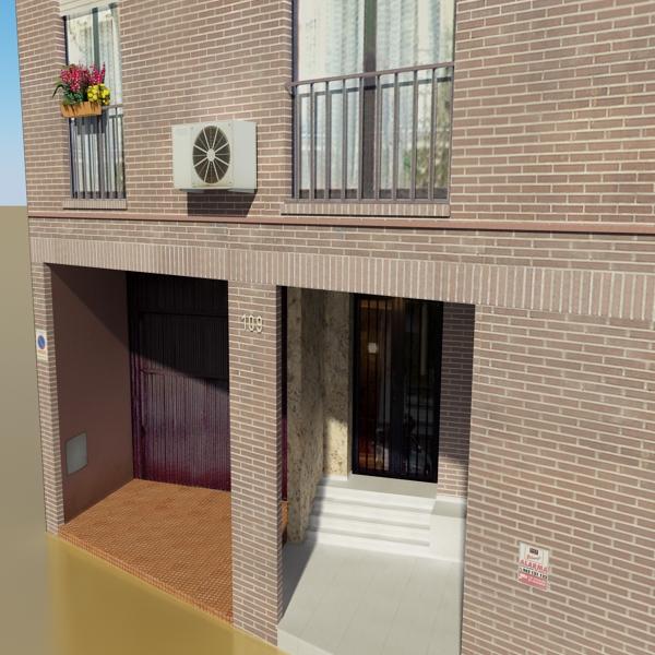 photorealistic low poly building 9 3d model 3ds max obj 148885