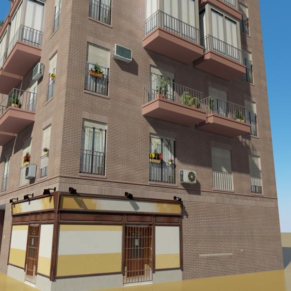 photorealistic low poly building 9 3d model 3ds max obj 148887