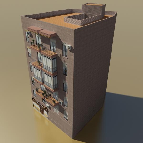 photorealistic low poly building 9 3d model 3ds max obj 148888