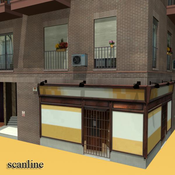 photorealistic low poly building 9 3d model 3ds max obj 148889