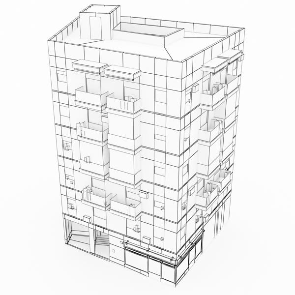photorealistic low poly building 9 3d model 3ds max obj 148891