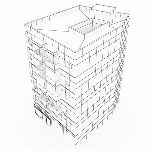 photorealistic low poly building 9 3d model 3ds max obj 148892