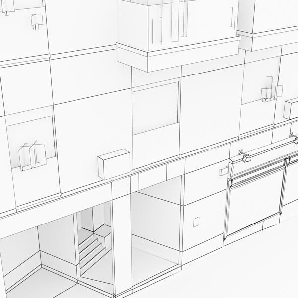 photorealistic low poly building 9 3d model 3ds max obj 148893