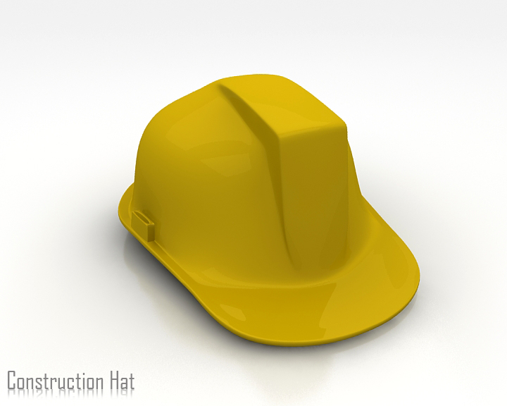 construction hat 3d model 3ds max obj 115312