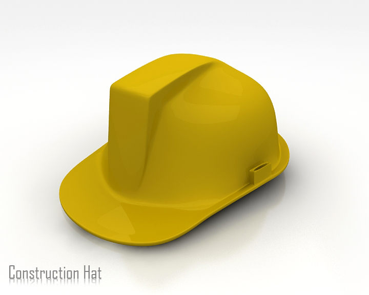 construction hat 3d model 3ds max obj 115313
