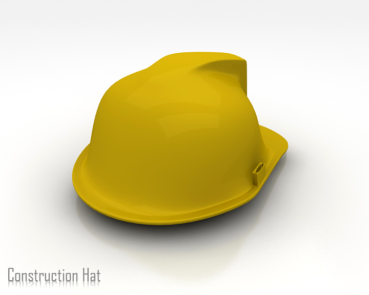 construction hat 3d model 3ds max obj 115314