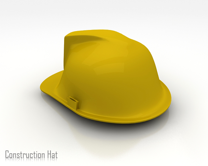 construction hat 3d model 3ds max obj 115315