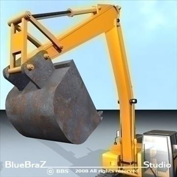 excavator 3d model 3ds dxf c4d obj 89157