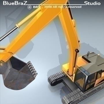 excavator 3d model 3ds dxf c4d obj 89158