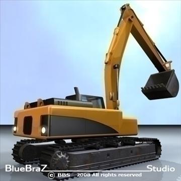excavator 3d model 3ds dxf c4d obj 89159