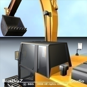 excavator 3d model 3ds dxf c4d obj 89160