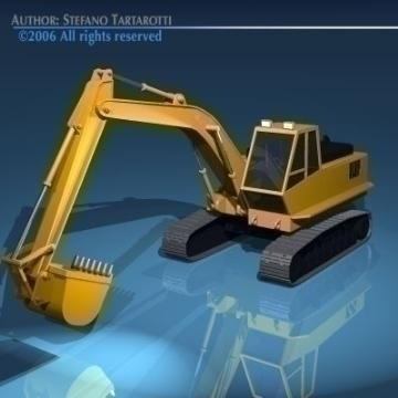 excavator v1 3d model 3ds dxf obj other 78298