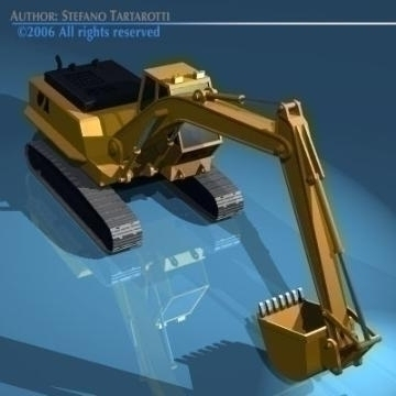 excavator v1 3d model 3ds dxf obj other 78300